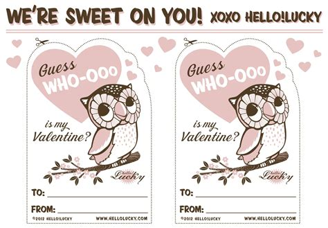printable owl valentine cards sweet free printables for valentines day living locurto