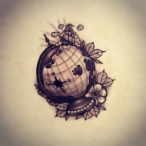 globe tattoo best 25 globe tattoos ideas on world travel
