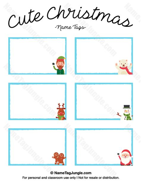 printable christmas name cards printable cute christmas name tags