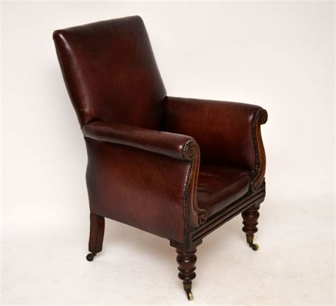 old armchairs antique william iv mahogany leather armchair antiques