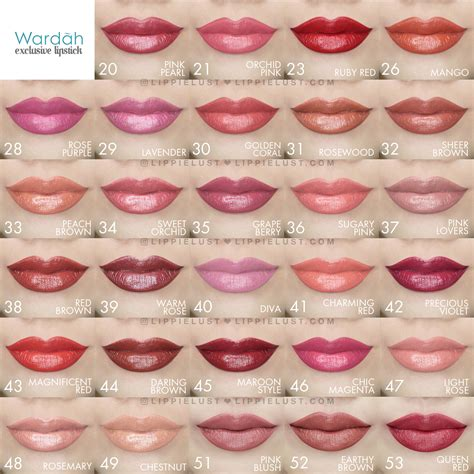 Wardah Lipstik lip swatch wardah exclusive lipstick lippielust 2 lippielust