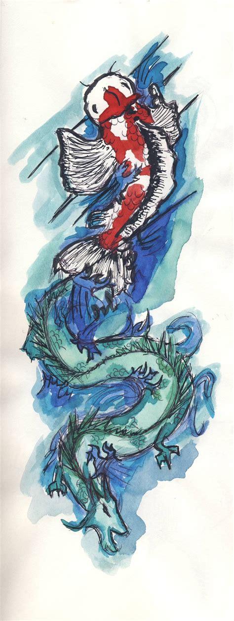 tattoo dragon koi fish koi fish dragon tattoo concept by carolinewhitman on