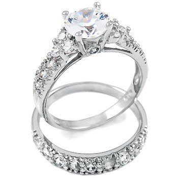 sterling silver cubic zirconia cz wedding engagement ring