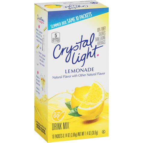light on the go lemonade sugar free soft drink mix