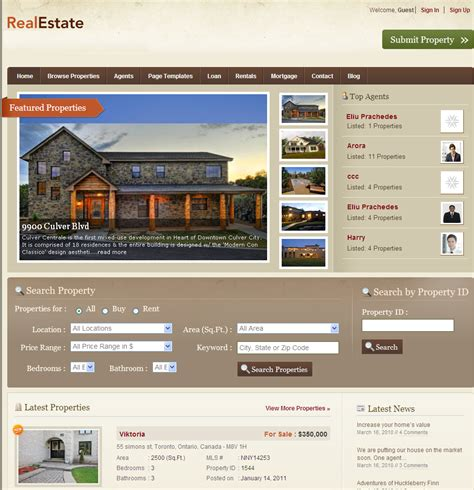 real estate web design software home design ideas