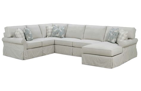 rowe furniture sectional easton slipcover sectional by rowe furniture