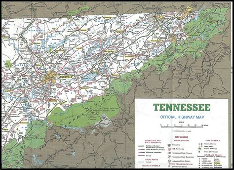 east tennessee road map east tn area map