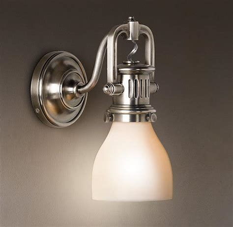 restoration hardware bathroom lighting 1920s factory sconce bath sconces restoration hardware