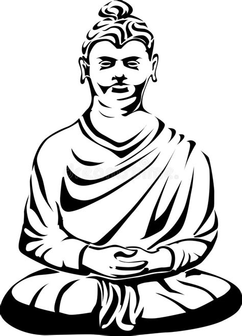 buddha tattoo design stock vector illustration of