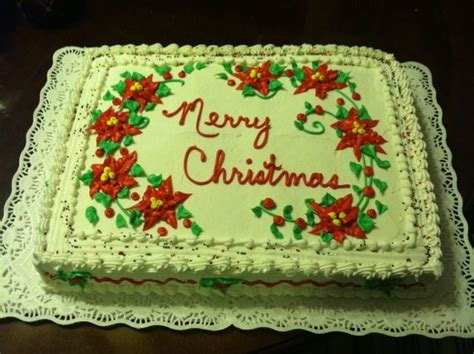 poinsettia christmas cake decorated sheet cake pinterest