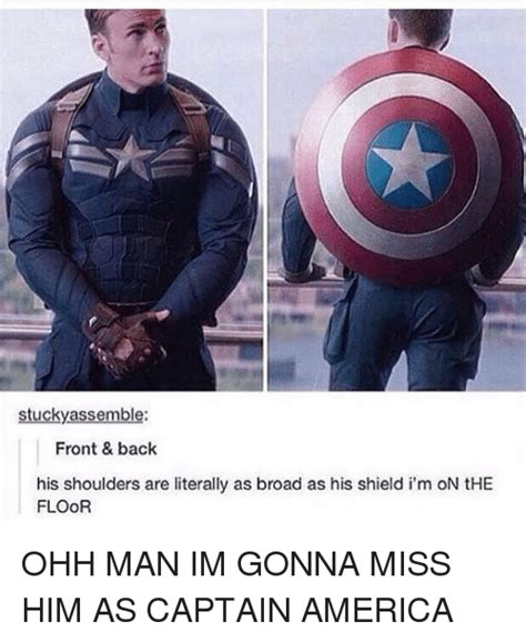 Captain America Kink Meme - stucky assemble front back his shoulders are literally