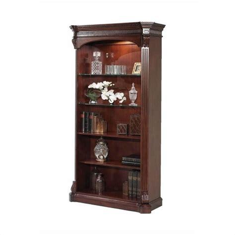 Open Wood Bookshelf Flexsteel Balmoor 5 Shelf Wood Open Bookcase In Bordeaux