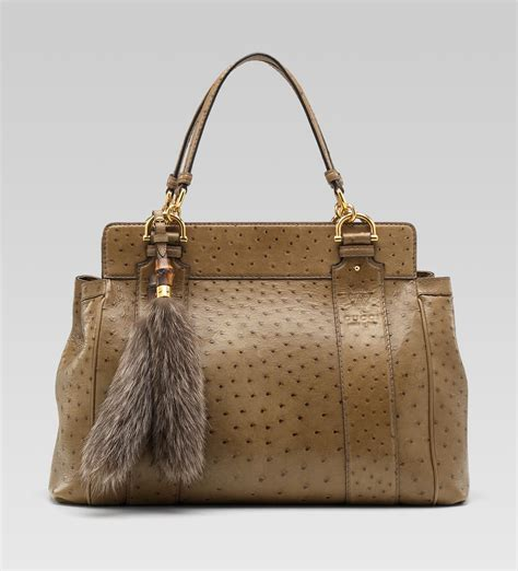 Gucci Handbag by Gucci Smilla Tote With Removable Fur Tails And Bamboo