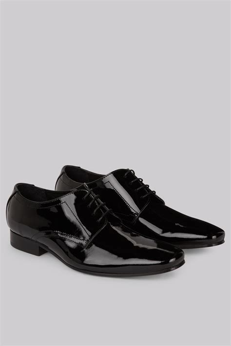 moss 1851 black patent dress shoes