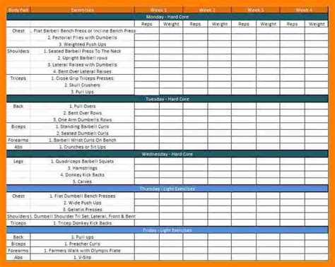 training schedule template training calendar sle new