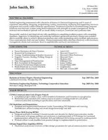 electrical engineer resume sle template