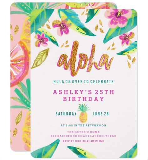 Card Template Hawaian Birthday by 14 Luau Invitation Designs Templates Psd Ai Free