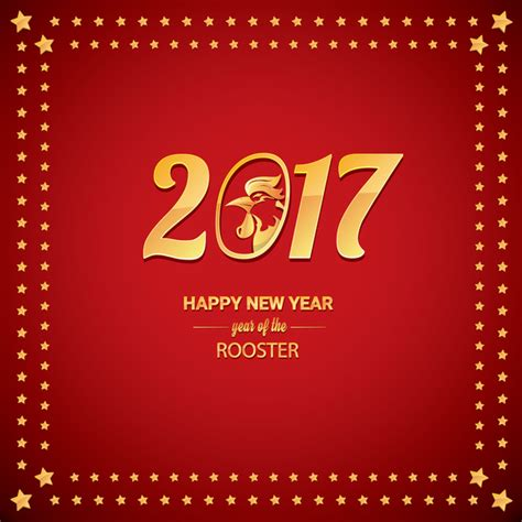 new year week 2017 new year 2017 with rooster and background