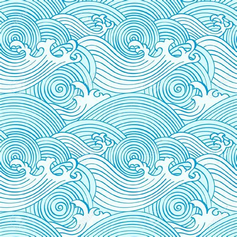 water patterns japanese seamless waves pattern in colors royalty