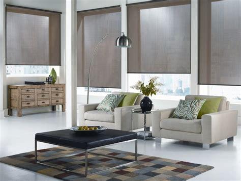 Modern Living Room Blinds Roller Shades New York City Modern Living Room New
