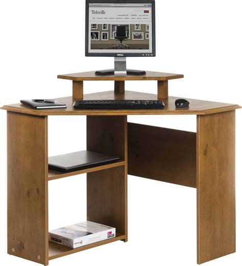 Felix Corner Desk Felix Home Office Wooden Corner Computer Desk In Brown Oak Ebay