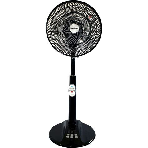 home depot stand up fans lasko 18 in cyclone pedestal fan in black with remote