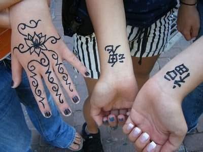 chinese henna tattoos beautiful henna tattoos on