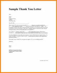 Thank You Letter Email Sle Letter Of Appreciation Template 36 Images Thank You