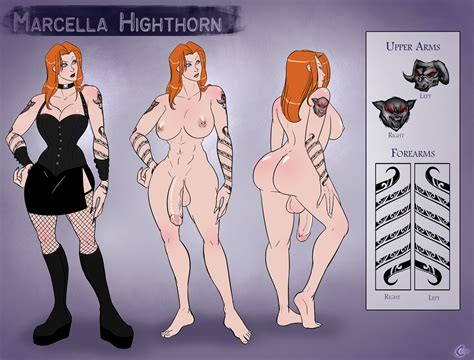 marcella highthorn character reference sheet by carbonoid