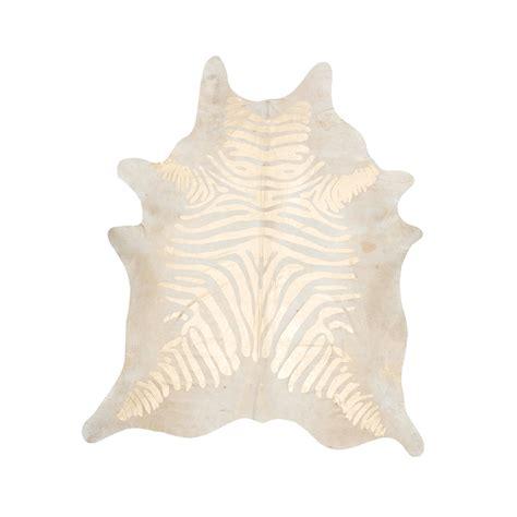 Metallic Zebra Cowhide Rug Southwest Rugs Devore Metallic Rustic Zebra Gold On Beige