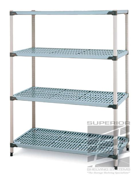 metromax q slotted polymer shelving system