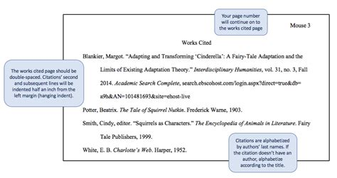 works cited page mla style guide for citations 8th
