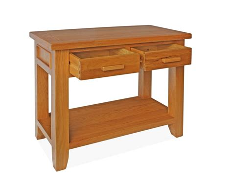 Oak Console Table With Drawers by Canterbury Oak Console Table With 2 Drawers