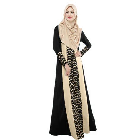 Jilbab Arab selling four colors muslim kaftan arab jilbab abaya islamic stitching sleeve