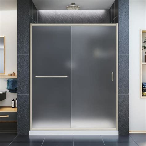 Lowes Shower Glass Door Shop Dreamline Infinity Z 56 In To 60 In W X 72 In H Frameless Sliding Shower Door At Lowes