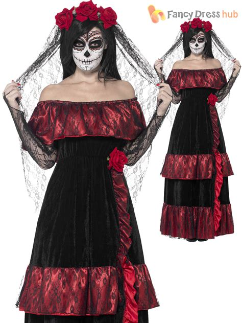 clothing shoes accessories costumes womens costumes ladies halloween day of the dead zombie corpse bride