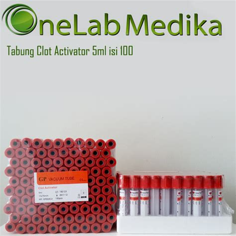 Plesterin Wp Onemed Box Isi 100 tabung clot activator 5ml isi 100 onelab medika