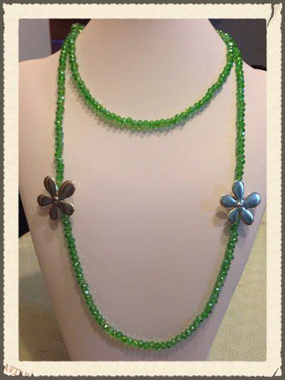 fiori di acciaio collana verde e fiori di acciaio gioielli collane di