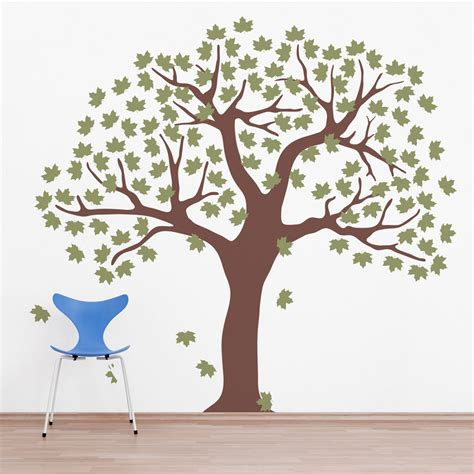 wall sticker tree large tree wall decal large tree with bird