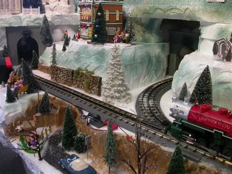 snow village showcase displays