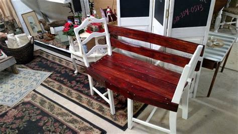 bench made out of chairs pallet and old chairs patio bench pallet furniture diy