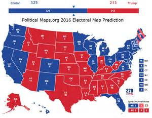 post election us map 2016 electoral map predictions 1 day to the election