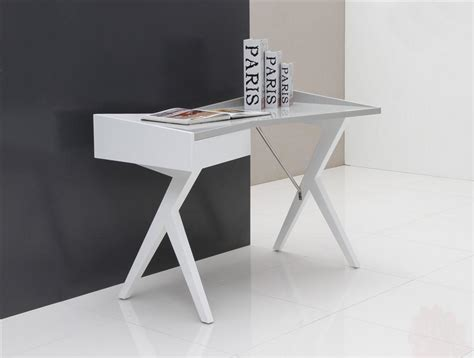 unique desk unique white gray modern 47 quot writing desk computerdesk com
