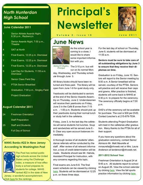 High School Newsletter Templates Mayamokacomm College Newsletter Templates Free