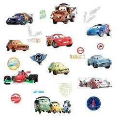 disney cars 2 wall stickers lightning mcqueen room decor disney cars collection 2 fathead wall sticker