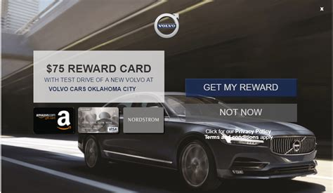 Test Drive Car Gift Card - volvo test drive offer promotion get a 75 visa gift card hustler money blog