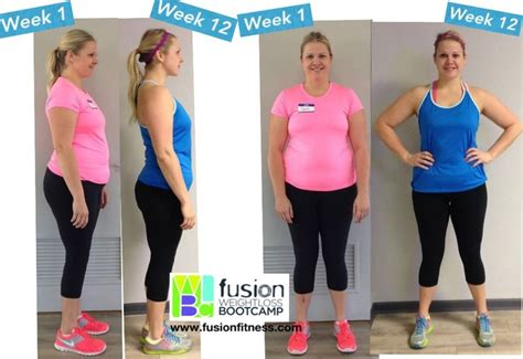 boot c weight loss real real results at fusion fitness 12 week boot