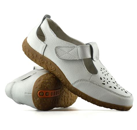 walking shoes for flat wide womens casual flat leather wide fit comfort walking