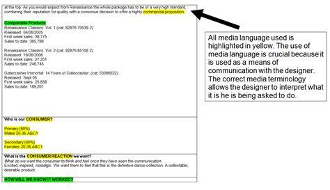design brief analysis exle ope s a2 music video blog music album cover design brief