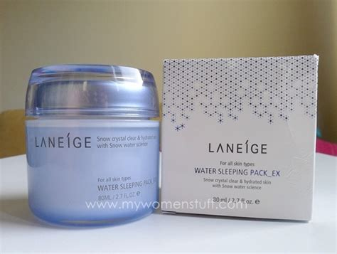 Laneige Water Sleeping Mask Di Counter review laneige water sleeping pack ex sleeping mask
